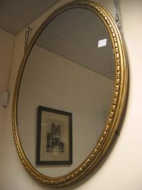 Antiques Atlas - Large Victorian Oval Mirror RESERVED