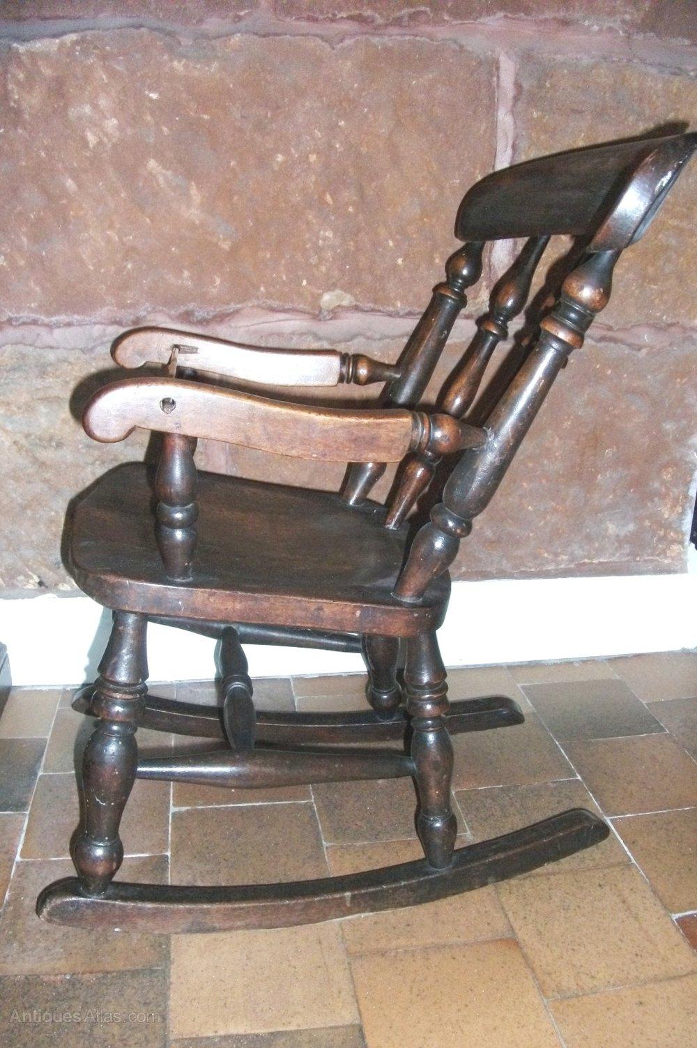 childs wooden chair doc mcstuffin toys r us antique windsor rocking - antiques atlas