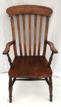 Antique Lath-Back Kitchen Windsor Chair - Antiques Atlas