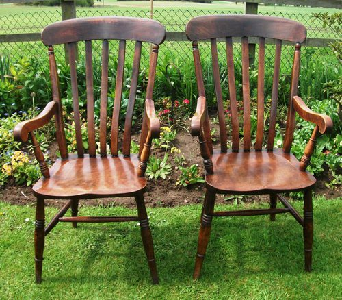 windsor kitchen chairs seafoam green chair antique pair of lath back antiques atlas