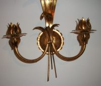 Antiques Atlas - Gilt Metal Wall Light Sconce