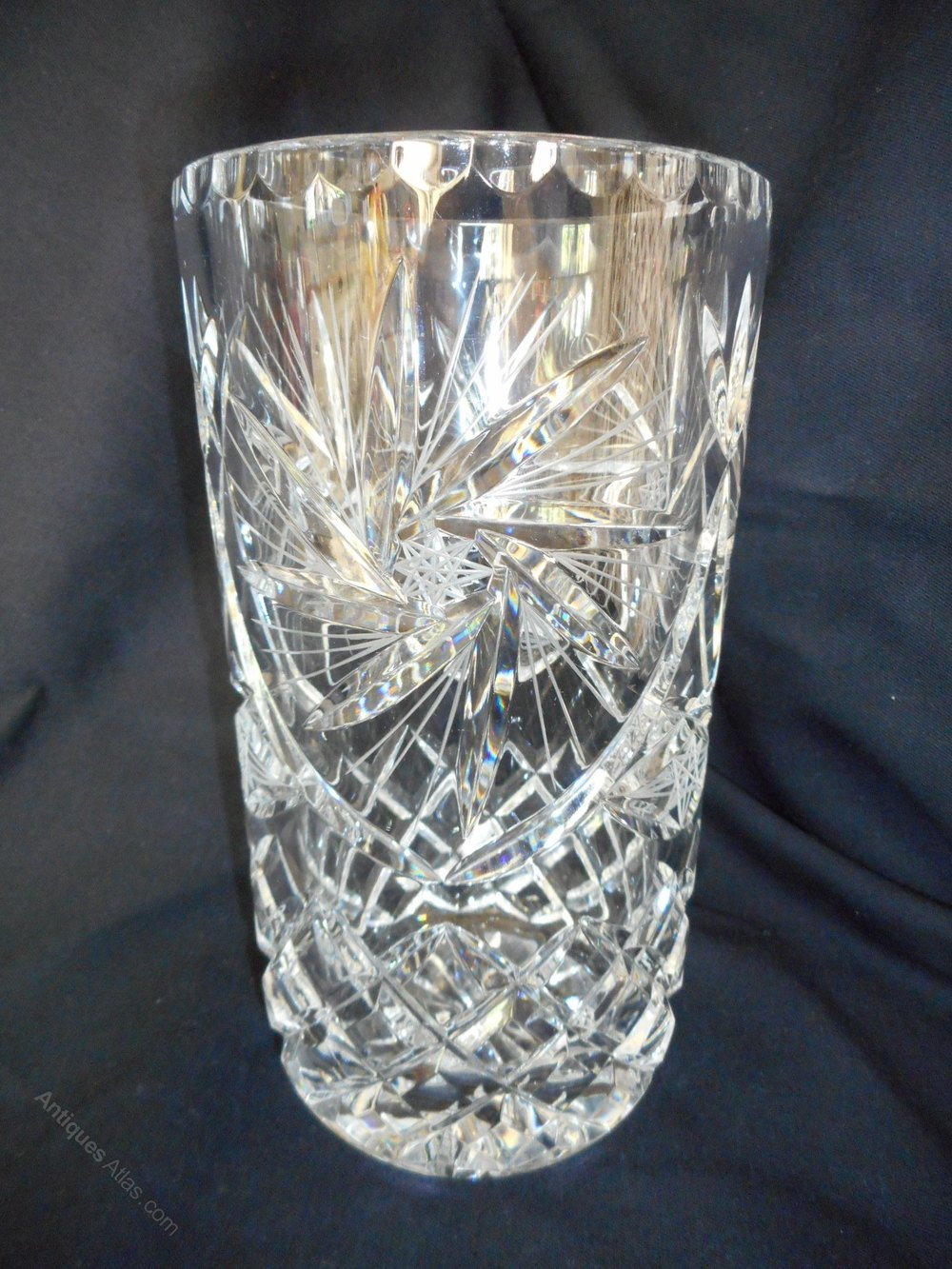 Antiques Atlas Heavy Quality Cut Glass Crystal Vase