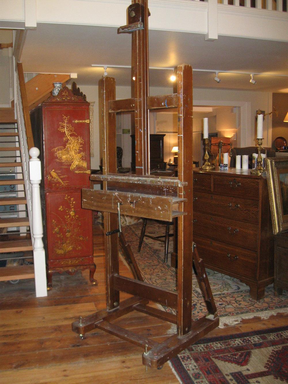 Large Adjustable Artists Easel  Antiques Atlas