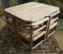 Antiques Atlas - Heals C1930s Teak Garden Table & Chairs