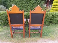 Pair Of Spanish Throne Armchairs - Antiques Atlas
