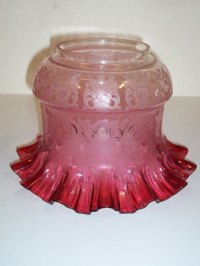 Antiques Atlas - Victorian Ruby Oil Lamp Shade