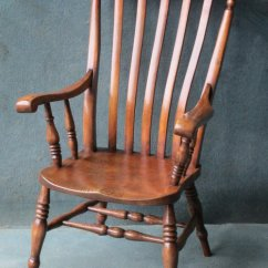 Windsor Chair With Arms Rope Hammock A Beech And Elm High Back - Antiques Atlas
