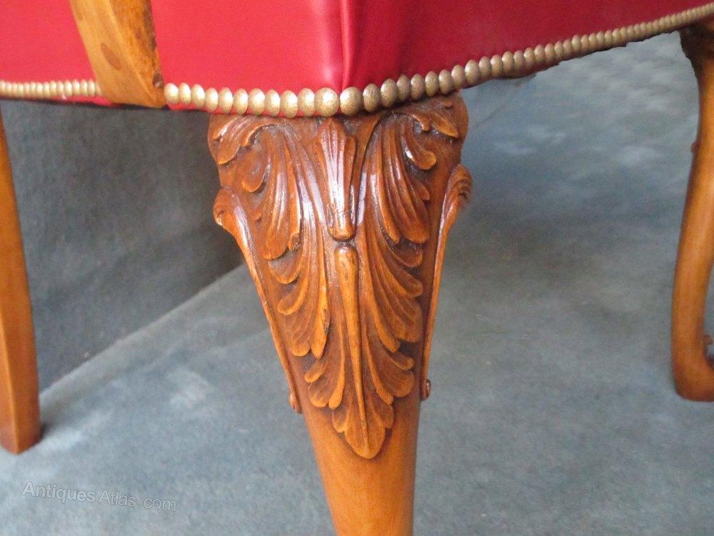 Cabriole Leg Desk Arm Chair In Mahogany  Antiques Atlas