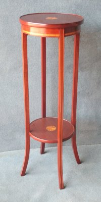 Edwardian Inlaid 2-Tier Plant Stand In Mahogany - Antiques ...