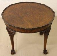 Round Burr Walnut Coffee Table - Antiques Atlas
