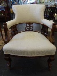 Victorian Upholstered Mahogany Occasional Chair ...