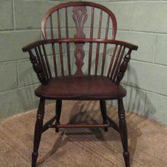 Antique Windsor Chairs For Sale Kids Sports Chair 19th Cent Oak & Elm Low Back - Antiques Atlas
