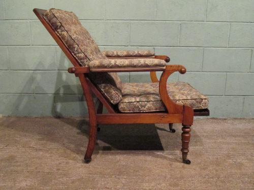 Antique Regency Mahogany Reclining Armchair C1820