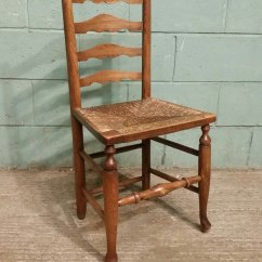 High Seat Chairs Best Ikea Office Chair Antique Set 4 Country Elm Ladder Back C1840 - Antiques Atlas