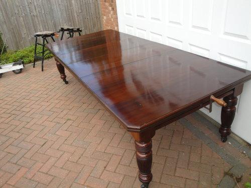 antique kitchen table ikea hardware large walnut extending dining antiques atlas