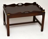 Antique Mahogany Tray Top Coffee Table - Antiques Atlas