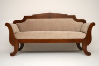 Antique Swedish Biedermeier Satinbirch Sofa