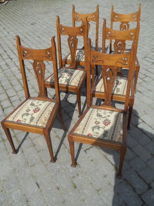 antique oak dining chairs space saver high chair set six antiques atlas