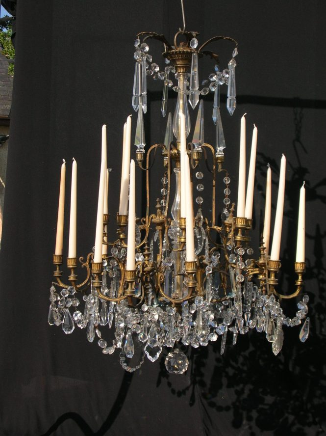 Antique 19th Century Crystal Chandelier Chandeliers
