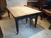 Table Victorian Pine Kitchen Dining Table C1860 - Antiques ...