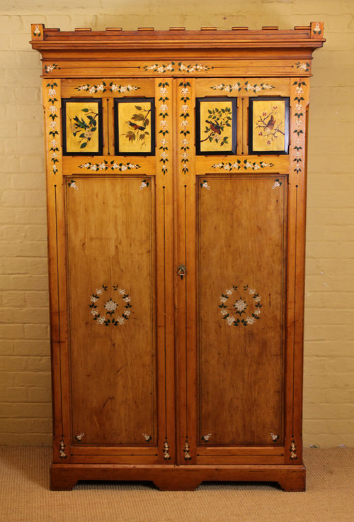 Arts And Crafts Wardrobe C1880  Antiques Atlas