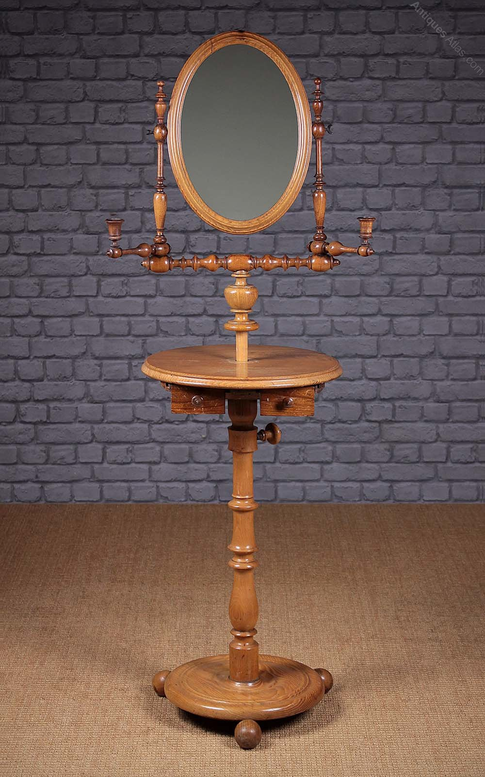 Gentlemans Shaving Mirror On Stand C1880  Antiques Atlas