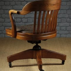 Wh Gunlocke Chair Booster Seat Antiques Atlas Large Walnut Desk By W H Co Vintage Chairs