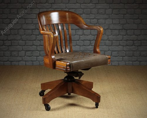 wh gunlocke chair stair climber chairs antiques atlas large walnut desk by w h co