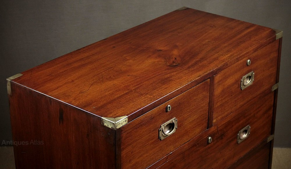 Mahogany Campaign Chest Of Drawers By Ross  Co D