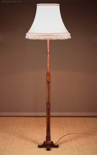 Antiques Atlas - Mahogany Standard Lamp C.1920.