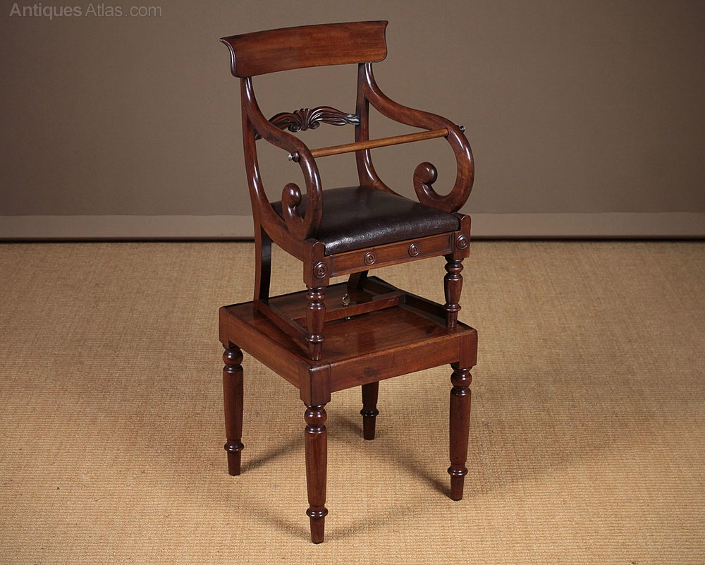 high chair attaches to table glider chairs on sale metamorphic child's & c.1840. - antiques atlas
