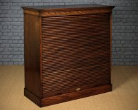 Roll Front 32 Drawer Office Filing Cabinet C.1910