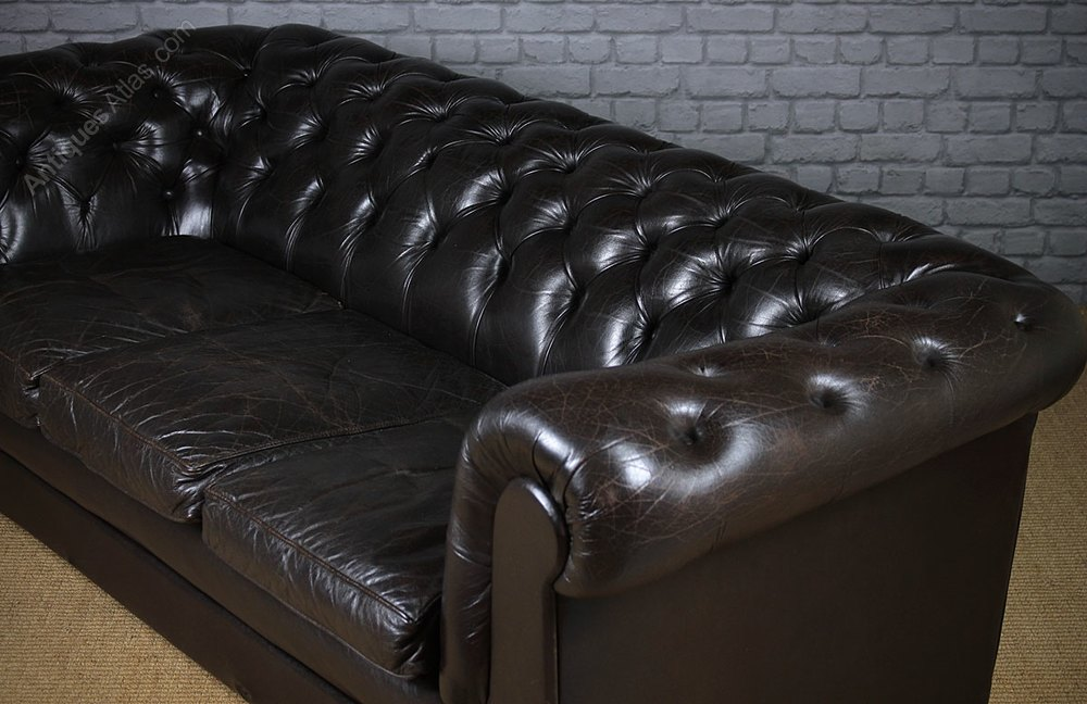 leather sofa manufacturers in wales jessica set antiques atlas - vintage black chesterfield c ...