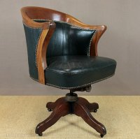 Vintage Leather Desk Chair. - Antiques Atlas
