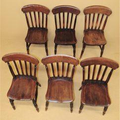 Oak Kitchen Chairs Flat Door Cabinets 6 Farmhouse R3539 Antiques Atlas