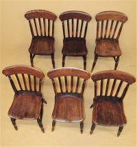 6 Farmhouse Kitchen Chairs - R3539 - Antiques Atlas