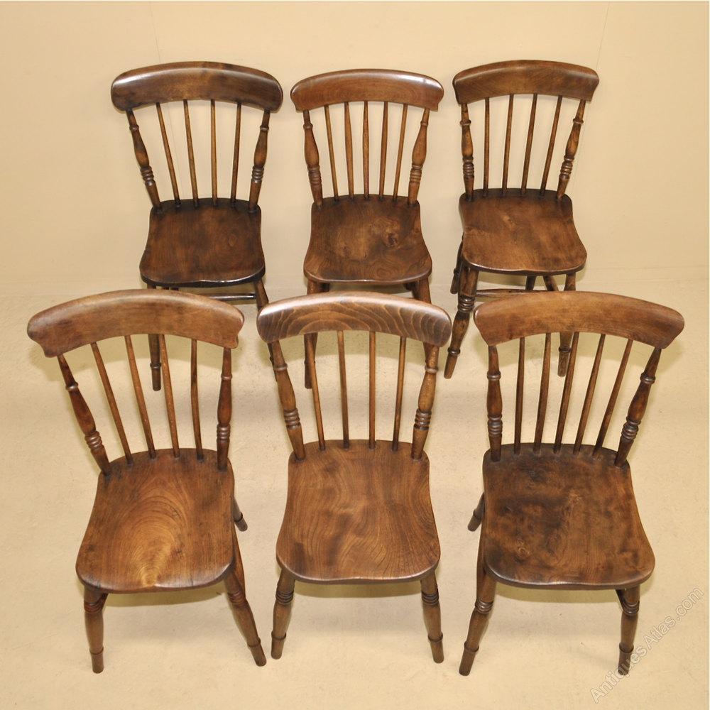 6 Stickback Kitchen Chairs  Antiques Atlas