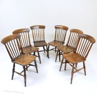 6 Windsor Kitchen Chairs - Antiques Atlas