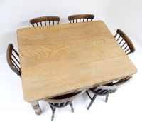 Elm And Birch Kitchen Table - Antiques Atlas