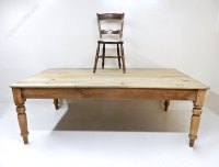 Large Farmhouse Kitchen Table - Antiques Atlas