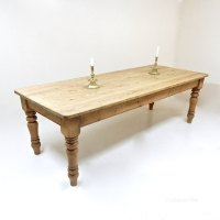 Antiques Atlas - Large Pine Farmhouse Kitchen Table