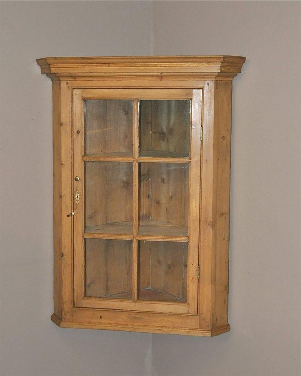 Antique Pine Corner Cupboard - Pine Corner Cupboard - Home Design Ideas