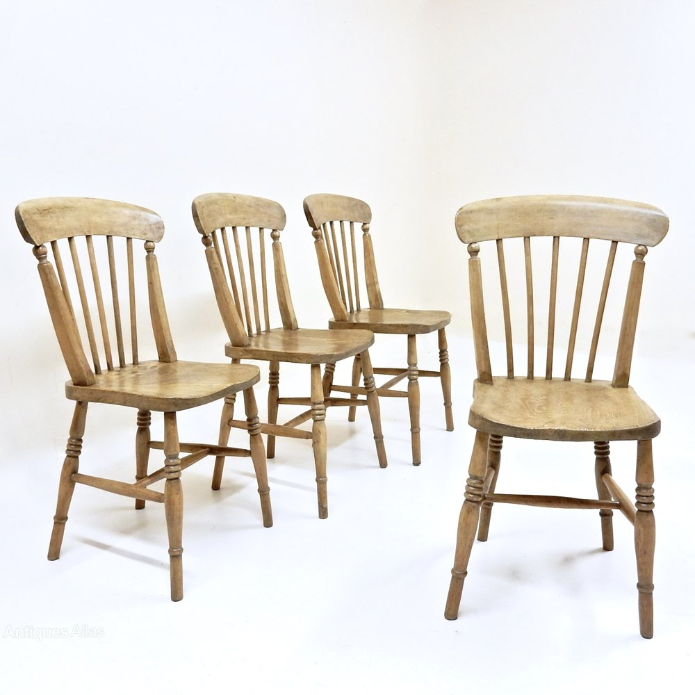 Set Of 4 Kitchen Chairs Set Of 4 Stickback Kitchen Chairs Antiques Atlas