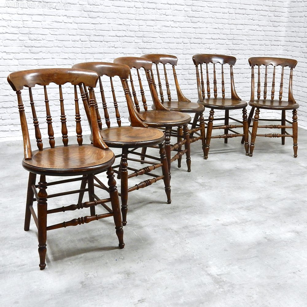 Country Kitchen Chairs Set Of 6 Country Kitchen Chairs Antiques Atlas