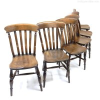 Set Of 6 Farmhouse Dining Chairs - Antiques Atlas