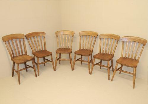 oak farmhouse chairs graco pink elephant high chair set of 6 kitchen r3538 antiques atlas