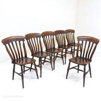 Set Of 6 Windsor Lathback Kitchen Chairs