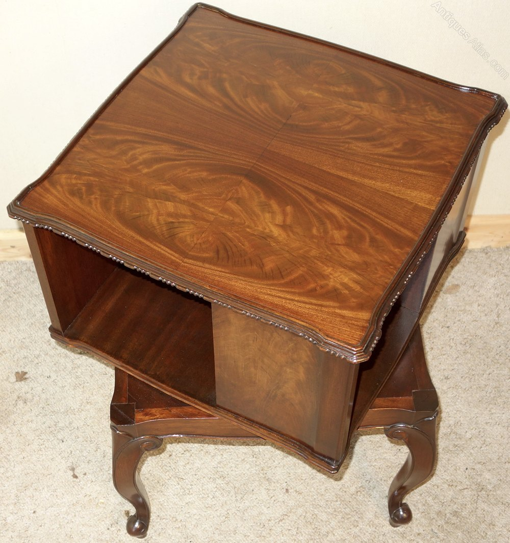 Revolving Walnut Book Table Bookcase Antiques Atlas