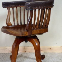 Revolving Chair Mechanism Abaca Dining Chairs Victorian Mahogany Swivel Desk - Antiques Atlas