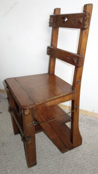 Victorian Metamorphic Library Chair Steps - Antiques Atlas